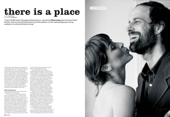 Plan B Magazine Issue 13 feature - Silver Jews. Art direction and design by Andrew Clare, photography by Cat Stevens