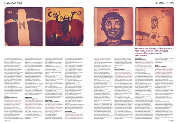 Plan B Magazine Issue 40 feature - 2008 Under Review. Art direction and design by Andrew Clare, illustration by Duncan Barrett
