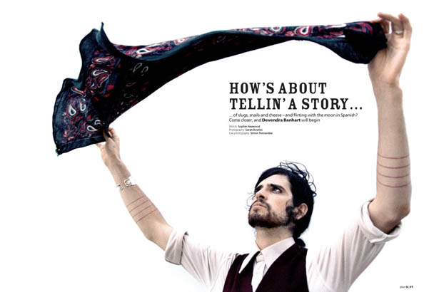 Plan B Magazine Issue XX feature - Devendra Banhart. Art direction and design by Andrew Clare, photography by XX
