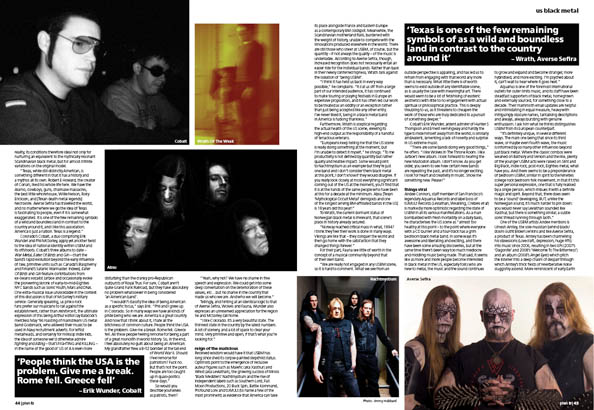 Plan B Magazine Issue 45 feature - US black metal. Art direction and design by Andrew Clare