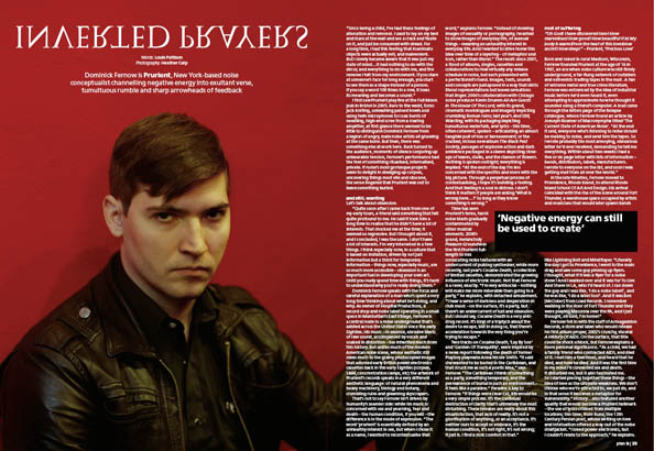 Plan B Magazine Issue 41 feature - Prurient. Art direction and design by Andrew Clare, photography by Heather Culp