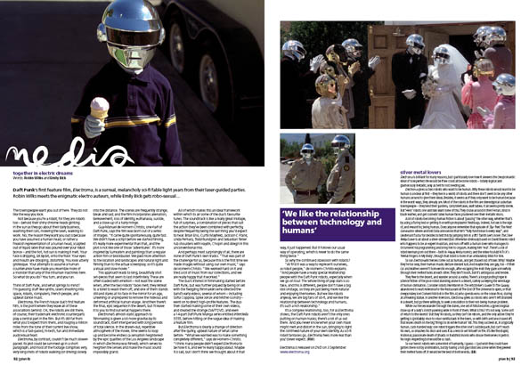 Plan B Magazine Issue XX feature - Daft Punk. Art direction and design by Andrew Clare