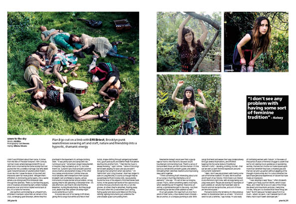 Plan B Magazine Issue 34 feature - Effi Briest. Art direction and design by Andrew Clare, photography by XCat Stevens