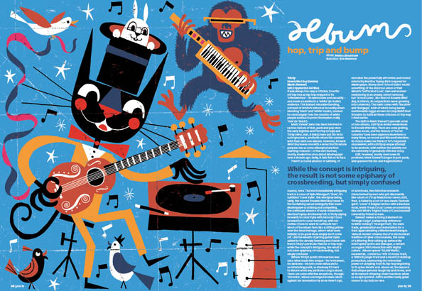 Plan B Magazine Issue 35 feature - Tricky. Art direction and design by Andrew Clare, illustration by Ben Newman